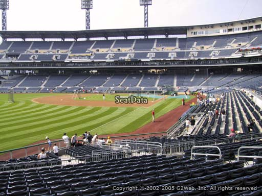 Seat view from section 131 at PNC Park, home of the Pittsburgh Pirates