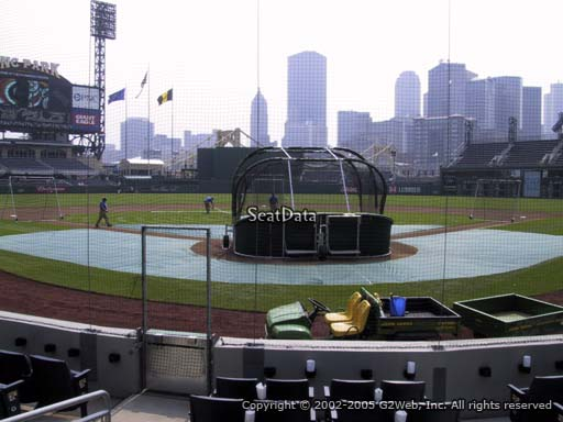 Seat view from section 17 at PNC Park, home of the Pittsburgh Pirates