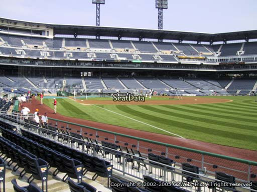 Seat view from section 2 at PNC Park, home of the Pittsburgh Pirates