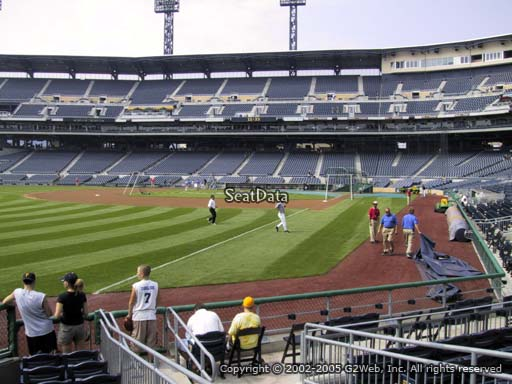 Seat view from section 32 at PNC Park, home of the Pittsburgh Pirates