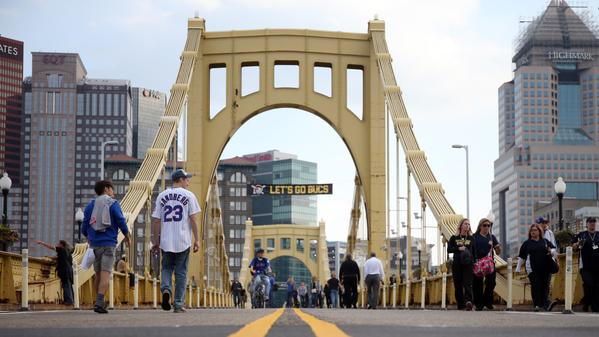 Photo of the Roberto Clemente Bridge at PNC Park.