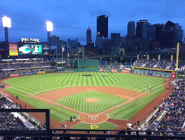 View of the field from the Upper Level at PNC Park.