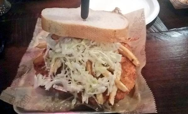 Photo of a Primanti Brothers Sandwich.