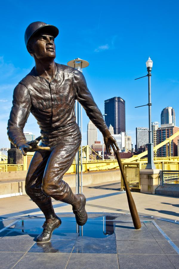 The Roberto Clemente Statue at PNC Park.