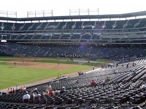 Seat view from section 113 at Globe Life Park in Arlington, home of the Texas Rangers