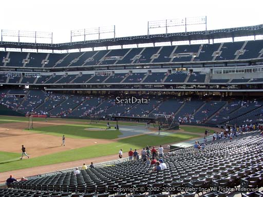 Seat view from section 116 at Globe Life Park in Arlington, home of the Texas Rangers
