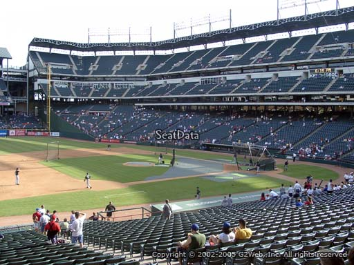 Seat view from section 118 at Globe Life Park in Arlington, home of the Texas Rangers