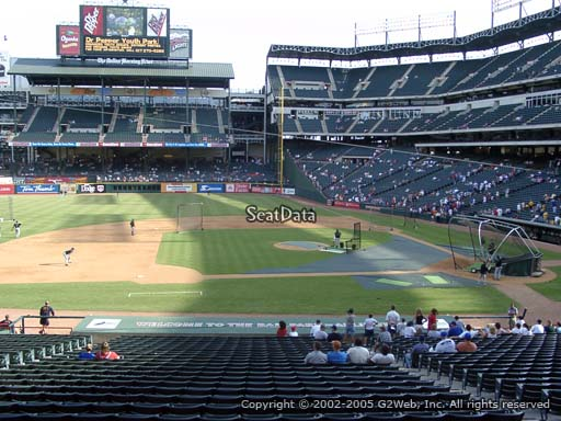 Seat view from section 120 at Globe Life Park in Arlington, home of the Texas Rangers