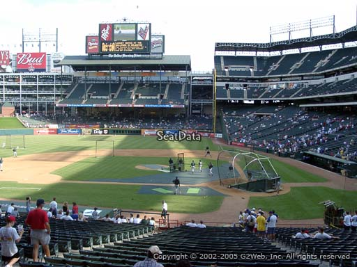 Seat view from section 122 at Globe Life Park in Arlington, home of the Texas Rangers