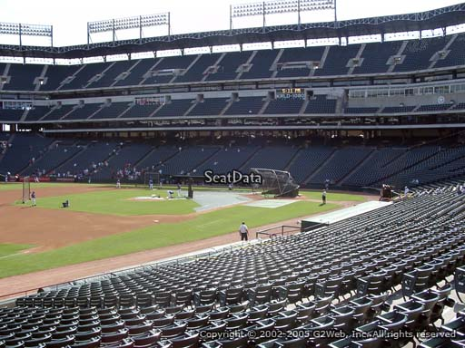 Seat view from section 15 at Globe Life Park in Arlington, home of the Texas Rangers