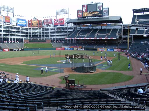 Seat view from section 24 at Globe Life Park in Arlington, home of the Texas Rangers