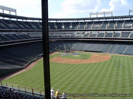 Seat view from section 250 at Globe Life Park in Arlington, home of the Texas Rangers
