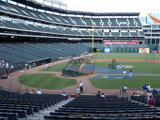 Seat view from section 31 at Globe Life Park in Arlington, home of the Texas Rangers