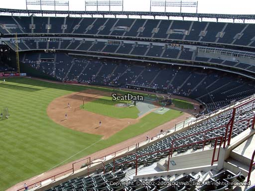 Seat view from section 312 at Globe Life Park in Arlington, home of the Texas Rangers
