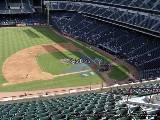 Seat view from section 318 at Globe Life Park in Arlington, home of the Texas Rangers
