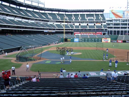 Seat view from section 32 at Globe Life Park in Arlington, home of the Texas Rangers