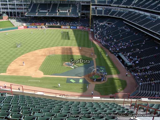 Seat view from section 321 at Globe Life Park in Arlington, home of the Texas Rangers