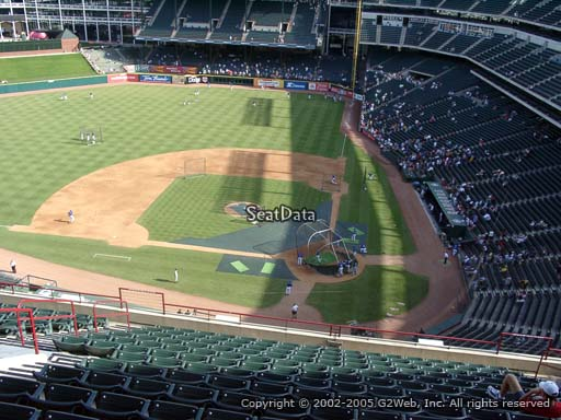 Seat view from section 322 at Globe Life Park in Arlington, home of the Texas Rangers