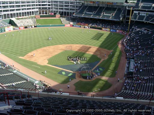 Seat view from section 324 at Globe Life Park in Arlington, home of the Texas Rangers