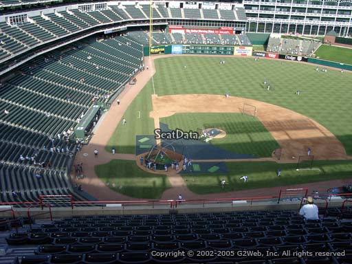 Seat view from section 330 at Globe Life Park in Arlington, home of the Texas Rangers