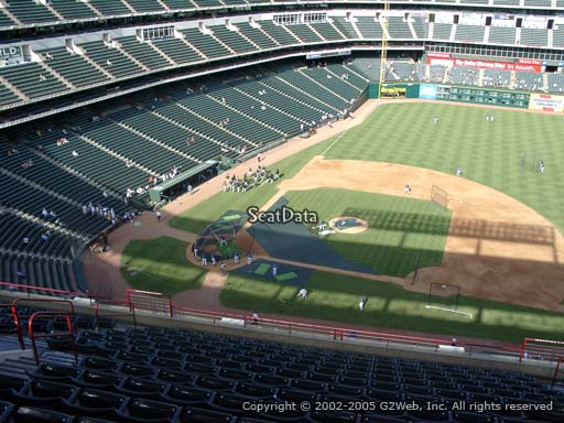 Seat view from section 333 at Globe Life Park in Arlington, home of the Texas Rangers