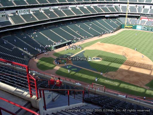 Seat view from section 335 at Globe Life Park in Arlington, home of the Texas Rangers