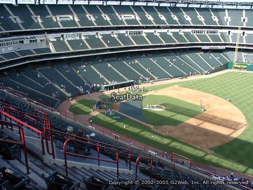Seat view from section 337 at Globe Life Park in Arlington, home of the Texas Rangers