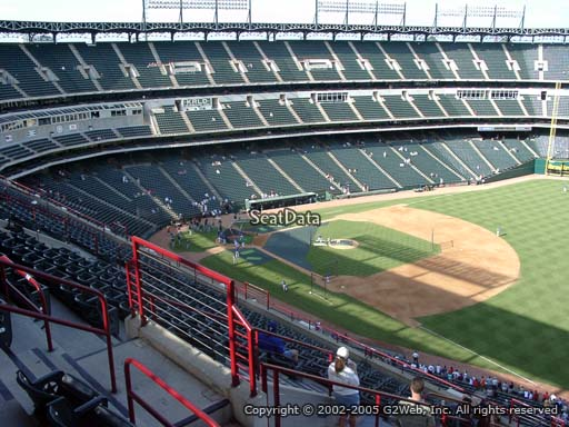 Seat view from section 339 at Globe Life Park in Arlington, home of the Texas Rangers