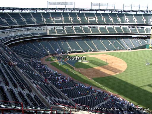 Seat view from section 341 at Globe Life Park in Arlington, home of the Texas Rangers