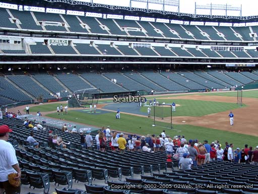 Seat view from section 36 at Globe Life Park in Arlington, home of the Texas Rangers
