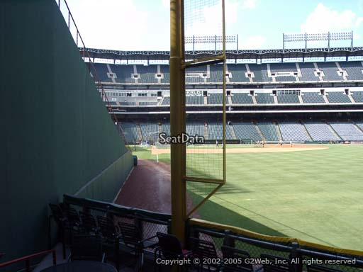 Seat view from section 43 at Globe Life Park in Arlington, home of the Texas Rangers