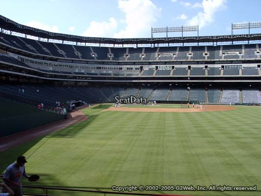 Seat view from section 45 at Globe Life Park in Arlington, home of the Texas Rangers