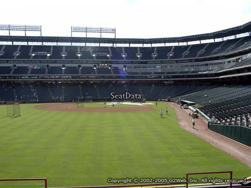 Seat view from section 7 at Globe Life Park in Arlington, home of the Texas Rangers