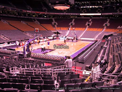 Seat view from section 112 at Scotiabank Arena, home of the Toronto Raptors