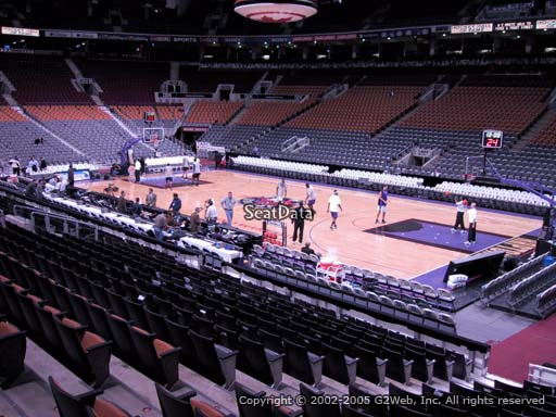Seat view from section 117 at Scotiabank Arena, home of the Toronto Raptors