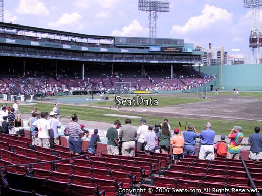 Seat view from field box section 19 at Fenway Park, home of the Boston Red Sox