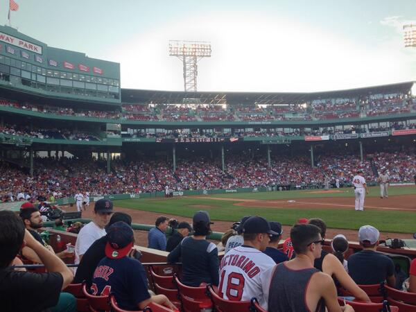 View from the Field Box Seats at Fenway Park