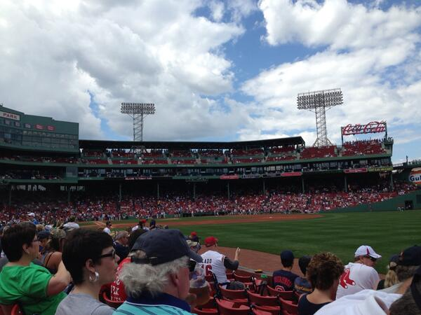 View from the Right Field Boxes at Fenway Park