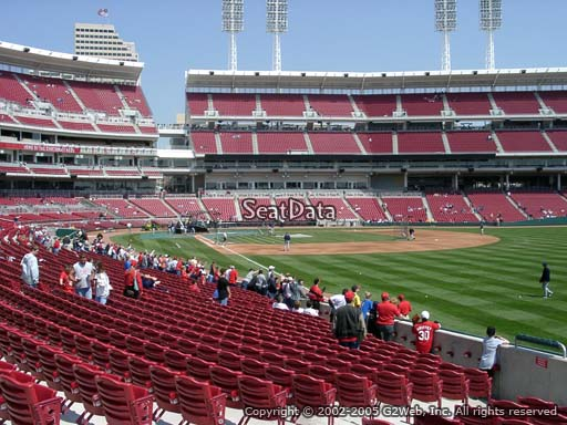 Seat view from section 137 at Great American Ball Park, home of the Cincinnati Reds