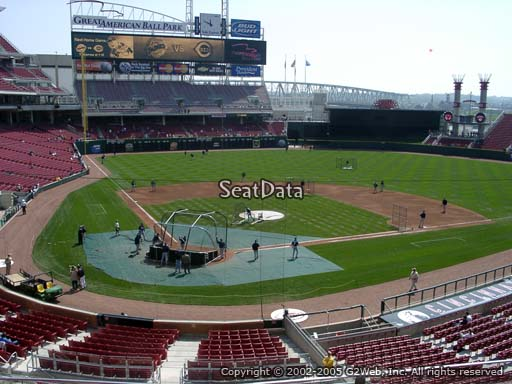 Seat view from section 226 at Great American Ball Park, home of the Cincinnati Reds