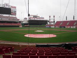 View from Diamond Club, Section 3, at Great American Ball Park, home of the Cincinnati Reds