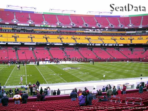 Seat view from Dream Seats 2 at Fedex Field, home of the Washington Redskins