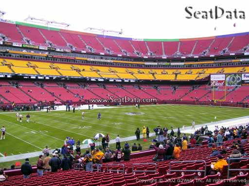 Seat view from Dream Seats 5 at Fedex Field, home of the Washington Redskins