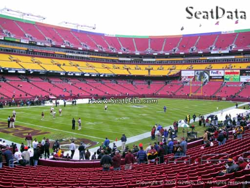 Seat view from Dream Seats 7 at Fedex Field, home of the Washington Redskins