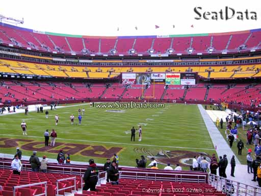 Seat view from Dream Seats 9 at Fedex Field, home of the Washington Redskins