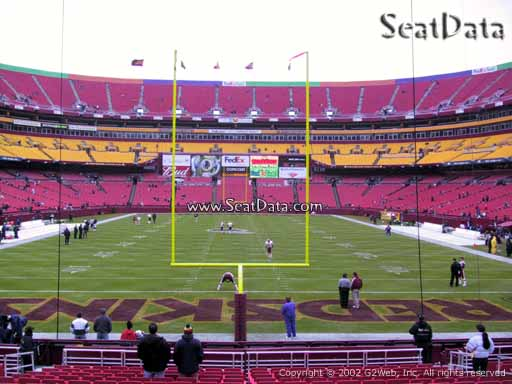 Seat view from section 111 at Fedex Field, home of the Washington Redskins