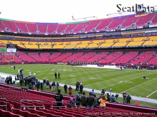 Seat view from Dream Seats 17 at Fedex Field, home of the Washington Redskins