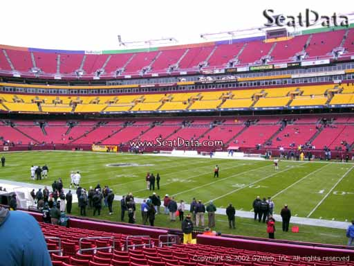 Seat view from Dream Seats 18 at Fedex Field, home of the Washington Redskins