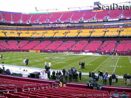 Seat view from section 119 at Fedex Field, home of the Washington Redskins