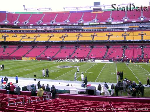 Seat view from section 120 at Fedex Field, home of the Washington Redskins